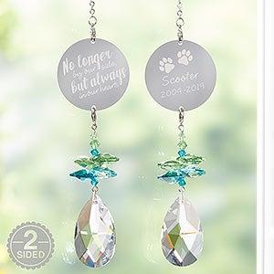 Personalized Rainbow Suncatcher Pet Memorial Gift - 20693