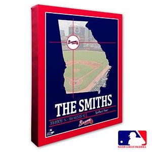 Atlanta Braves Personalized MLB Wall Art - 20695