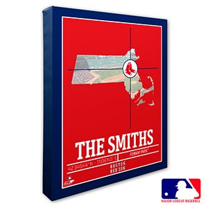 Boston Red Sox Personalized MLB Wall Art - 20697