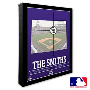 Colorado Rockies Personalized MLB Wall Art - 20702