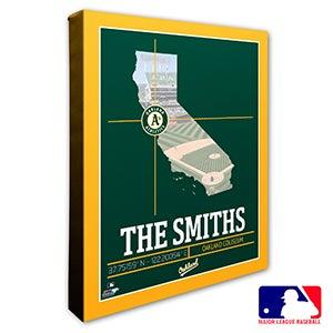 Oakland Athletics Personalized MLB Wall Art - 20713