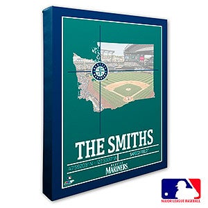 Seattle Mariners Personalized MLB Wall Art - 20718