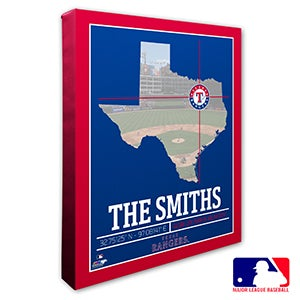 Texas Rangers Personalized MLB Wall Art - 20721