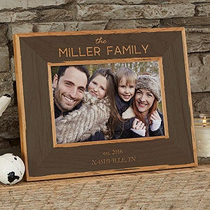 Personalized Printed Wood Frame - Family Is Precious - 20733