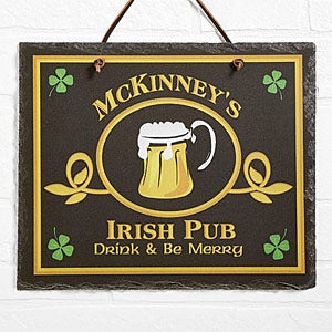 Custom Personalized Irish Pub Sign Slate Plaque - 2074