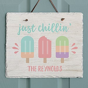 Personalized Slate Plaque - Summer Popsicle - 20751