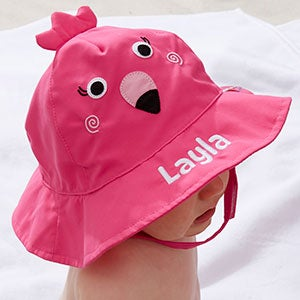 Custom Embroidered Baby Sun Hat - Flamingo - 20752