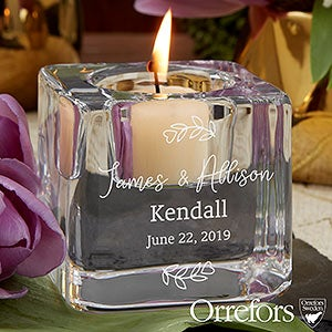 Engraved Orrefors Votive Candle Holders For Wedding - 20759