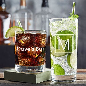 Personalized Cocktail Glasses - Classic Celebrations - 20819