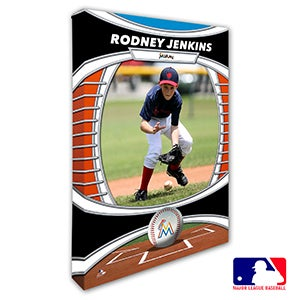 Miami Marlins Personalized MLB Photo Canvas Print - 20828