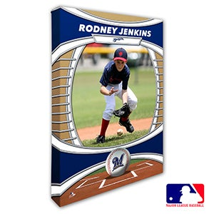 Milwaukee Brewers Personalized MLB Photo Canvas Print - 20829