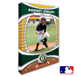 Oakland Athletics Personalized MLB Photo Canvas Print - 20833