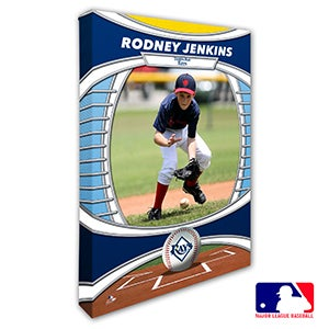Tampa Bay Rays Personalized MLB Photo Canvas Print - 20840