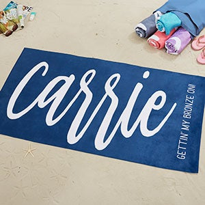 Personalized Name Beach Towels - Scripty Style - 20846