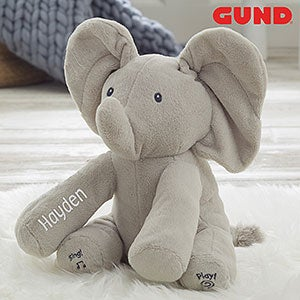 Personalized Gund Baby Animated Flappy The Elephant Plush Toy