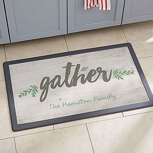 Personalized Kitchen Mats With Our Rustic Farmhouse Cozy Home Designs Choose Mat Size Color And One Of 6 Phrases Then Add Your Own Text
