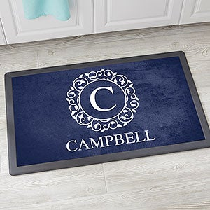 Buy Personalized Kitchen Mats U0026 Add Any Monogram And Text To Our Elegant  And Classic Circle U0026 Vine Monogram Design. Kitchen Mat Is Available In Your  Choice ...