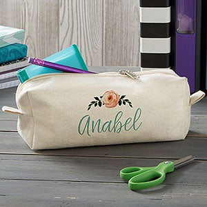 Personalized Pencil Case - Floral Name - 20914