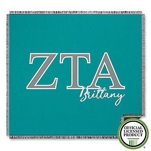 Zeta Tau Alpha Personalized Greek Letter Blankets - 21035
