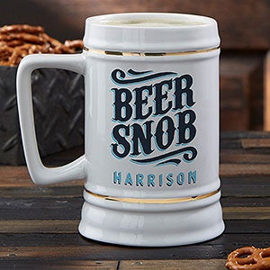 Beer Snob Personalized Beer Stein - 21039