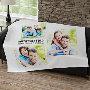 Personalized Blankets For Men - Three Photo Collage - 21053