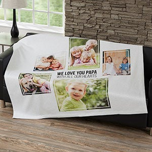 Personalized Blankets For Men - Five Photo Collage - 21056