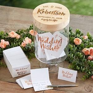 Mr & Mrs Personalized Wedding Wish Jar - 21071
