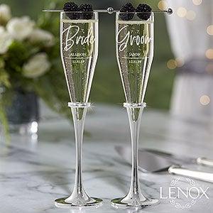 Custom Engraved Lenox Champagne Flutes - 21111