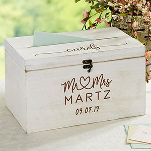 Infinite Love Personalized Wedding Card Box