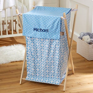 Personalized Collapsible Baby Laundry Hamper - Blue - 21135
