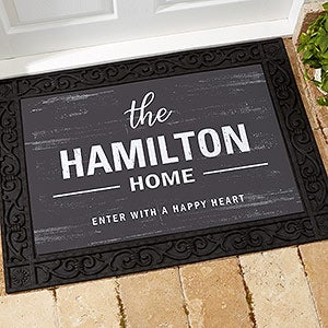 Personalized Doormats - Farmhouse Family Welcome - 21167