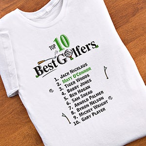 Personalized Top Ten Golfers Shirts and Accessories - 2120