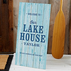 Personalized Wood Pallet Signs - Home Away From Home - 21202