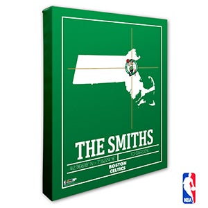 Boston Celtics Personalized NBA Wall Art - 21219