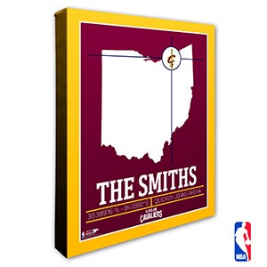 Cleveland Cavaliers Personalized NBA Wall Art - 21223
