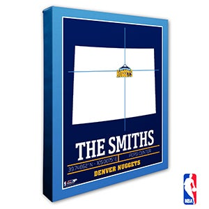 Denver Nuggets Personalized NBA Wall Art - 21225