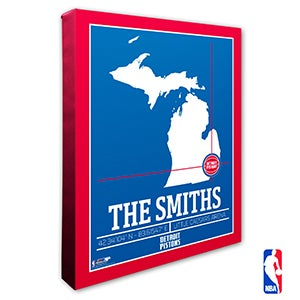 Detroit Pistons Personalized NBA Wall Art - 21226