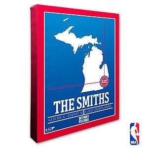 Detroit Pistons Personalized NBA Wall Art - 21226