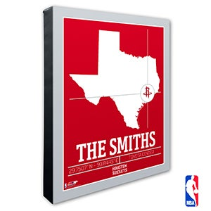 Houston Rockets Personalized NBA Wall Art - 21228