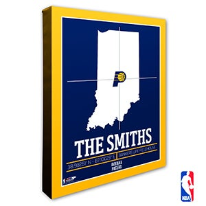 Indiana Pacers Personalized NBA Wall Art - 21229