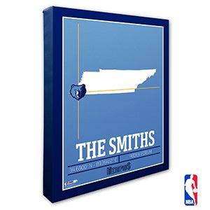 Memphis Grizzlies Personalized NBA Wall Art - 21232