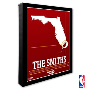 Miami Heat Personalized NBA Wall Art - 21233