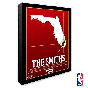 Miami Heat Personalized NBA Wall Art - 21233