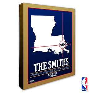 New Orleans Pelicans Personalized NBA Wall Art - 21236