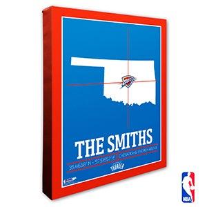 Oklahoma City Thunder Personalized NBA Wall Art - 21238