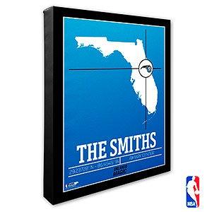 Orlando Magic Personalized NBA Wall Art - 21239