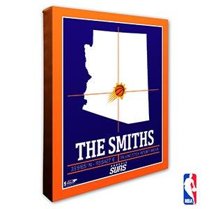 Phoenix Suns Personalized NBA Wall Art - 21241