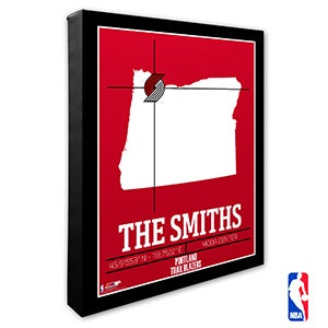 Portland Trailblazers Personalized NBA Wall Art - 21242