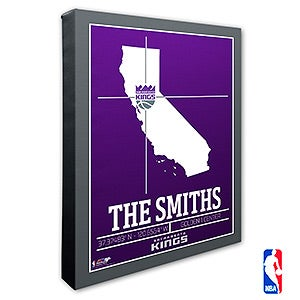 Sacramento Kings Personalized NBA Wall Art - 21243