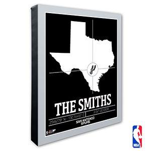 San Antonio Spurs Personalized NBA Wall Art - 21244